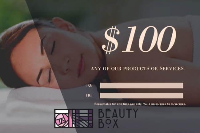 DH Beauty box voucher